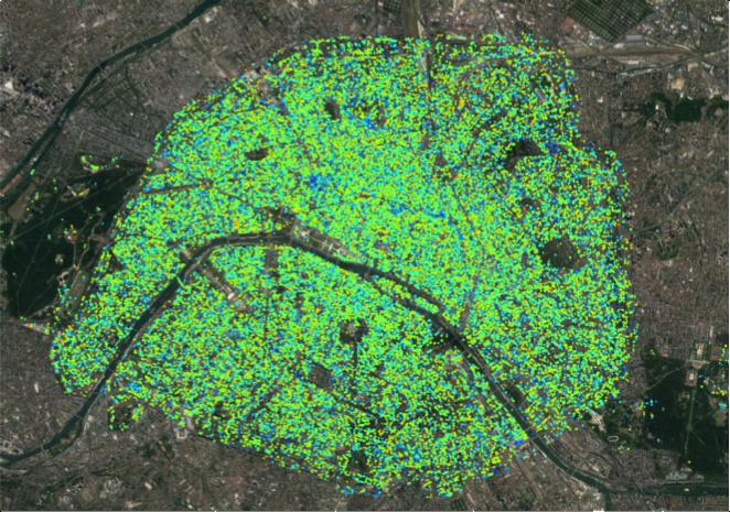 Vitesse moyenne linéaire annuelle - agglomération Parisienne